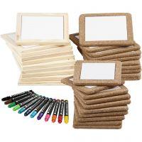 Kit dessous-de-plats à décorer, couleurs classiques, couleur extra, 1 set, 30 pièce