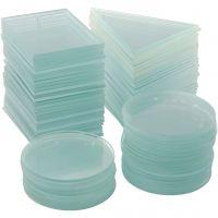 Plaques de verre, ép. 3 mm, 3x30 pièce/ 1 boîte