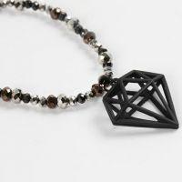 Bracelet avec Perles à Facettes et Breloque mode