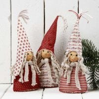Décorations de Noël faites avec du feutre design