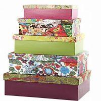 Boîtes de rangement décorées