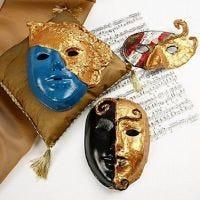 Masques Rococos avec de la peinture Art Metal dorée