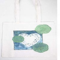 Shopping bag with long handle