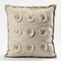 Cushion in Textured Acrylic Felt