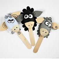 Funny polystyrene sheep