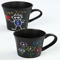 Marqueur pailleté pour mugs noirs