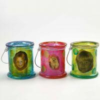 Lanternes avec A-Color Glass et des découpages