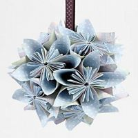 A Flower Bauble folded from Paper