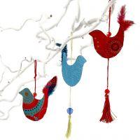 Une décoration d'oiseaux à suspendre des années 60