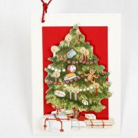 Une carte 3D avec un arbre de Noël