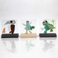 Plaques de verre avec mosaïques