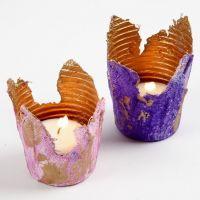 Tealight Candle Holders from Gauze Bandage