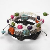 Braided Bracelets with  coloured Howlite
