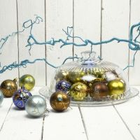 Christmas Baubles with Gold
