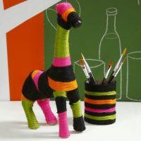 Une girafe en laine