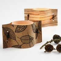 Candle Holders with Natural Materials