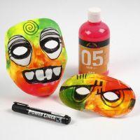 Masques en plastique avec caoutchouc mousse et couleurs fluo