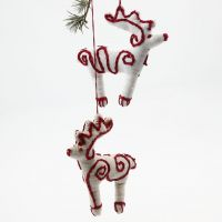 A Fabric Reindeer with easy Embroidery