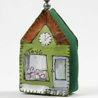A Canvas House painted with Plus Color and decorated with Beads
