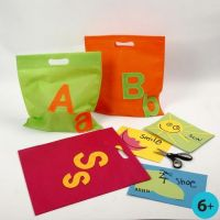 A Multi Bag with Felt Letters