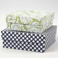 Boîtes recouvertes de papier design (série Londres)