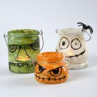 Lanternes en verre décorées avec du papier de soie de paille et 3D Liner