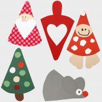 Décorations de Noël – Figurines faites à partir d'un modèle flexible