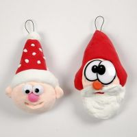 Silk Clay Pixie Decorations with Funny Plastic Eyes