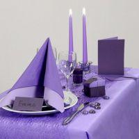 Inspiration pour fêtes avec décoration de table violette