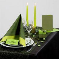 Inspiration pour fêtes avec décoration de table verte
