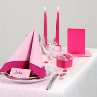 Inspiration pour fêtes avec décoration de table rose