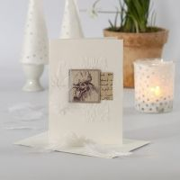 Carte de voeux pour Pâques avec décorations cousues et papier Vivi Gade design