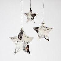 Stars with Napkin Decoupage