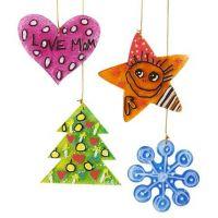 Décorations de Noël en acrylique à suspendre décorées à la peinture et au marqueur