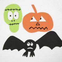 Des figures magnétiques d'Halloween en caoutchouc mousse