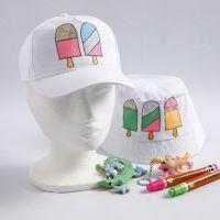 Décoration textile avec des dessins de glaces