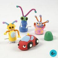 Figurines mobiles fabriquées à partir de pièces mécaniques avec de la pâte Silk Clay