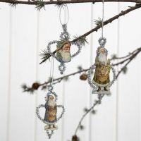 Des décorations de Noël look Vintage avec des cure-pipes et des  découpes Vintage