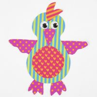A Parrot from patterned Card