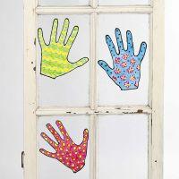 Dessins peints et amovibles pour fenêtre