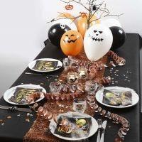 Décoration d'une table d'Halloween