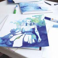 Une illustration faite avec des marqueurs de peinture aquarelle