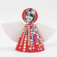 An Angel cut out in one Piece and decorated