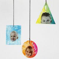 Décorations suspendues de plaque de verre décorées avec des impressions, du texte et des graphiques