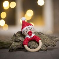 A crocheted Baby Elf Rattle from Cotton Yarn