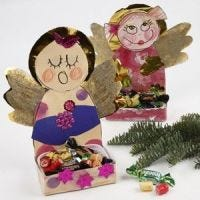 Angels with room for Christmas Treats