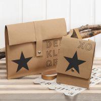 Des sacs décorés avec du papier imitation cuir