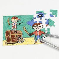 Un puzzle pirate décoré aux feutres
