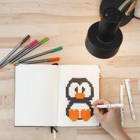 De l'art pixel dans votre bullet journal ou bujo