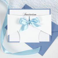 Une invitation à un baptême, décorée d'une couche